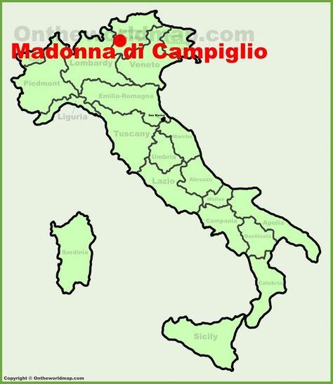 Sondrio location on the Italy map Maps Pinterest Italy