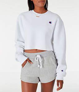 Women S Champion Reverse Weave Crop Crew Sweatshirt Cropped Sweatshirt Outfit Sweatshirts Women Champion Clothing