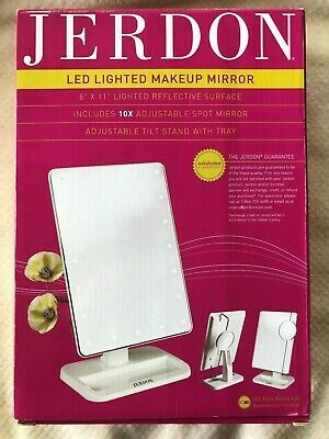Advertisement Jerdon Led Lighted Makeup Mirror 8 X 11 With
