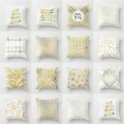 GX Golden Tone Pattern Printing Pillow