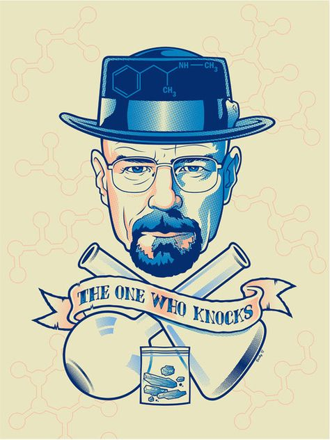 The One Who Knocks  Breaking Bad's Walter White illustrated byScott Derby:: viascottderby.blogspot.ca