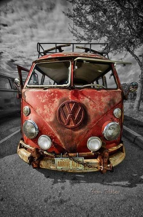 VW Bus For Sale...Very, Very Used...First a family of four...then the older couple...followed by the three hippies...then a college student...then the antique dealer...now you