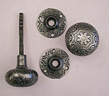 Cast Iron Passage Hardware #6517H Classic decorative polished cast ...