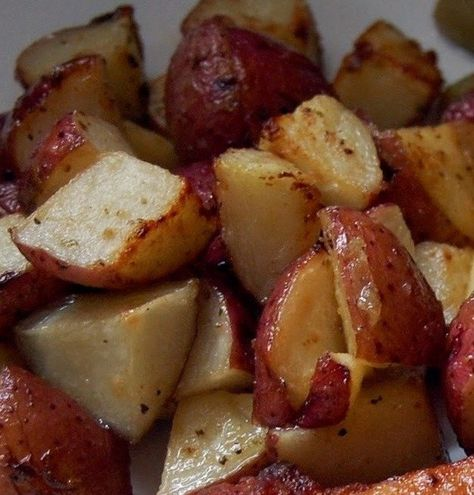Recipe for Roasted Ranch Potatoes. Just potatoes+dry ranch seasoning