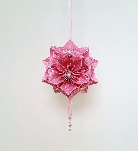 33 Ideas Origami Flowers Box Cherry Blossoms Origami Flowers Paper Flower Ball Flower Ornaments