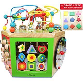 Easy Foxy Toy Activity Center Baby Grosser Motorikwurfel Spielzeug Aus Holz Fur Kinder Ab 1 2 Jahre Holzspielzeug Mo Motorikwurfel Spielzeug Kinder Spielzeug