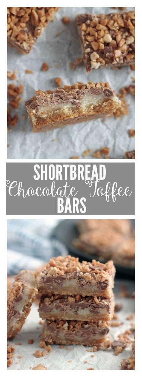 SHORTBREAD CHOCOLATE TOFFEE BARS