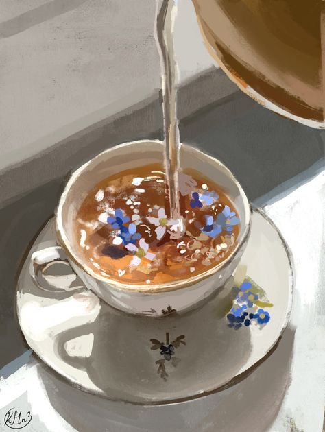 """Kay 🍓🐌 on Twitter: """"I wanna do more of these teacup painting studies… """""""