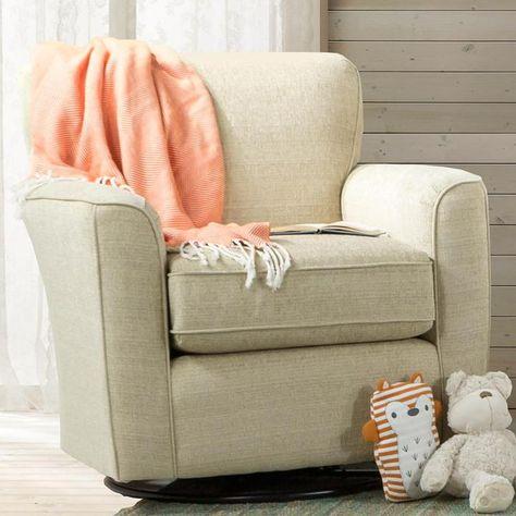 Amazing Kaylee Swivel Glider Chair In Ivory Nebraska Furniture Machost Co Dining Chair Design Ideas Machostcouk