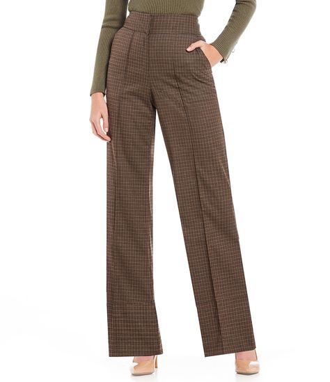 52849fc2f5d Shop for Gianni Bini Moana Plaid Print Wide Leg Pant at Dillards.com. Visit