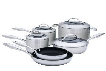 Scanpan Ctx Multi Layer 5 Ply Stainless Steel W Ceramic Titanium Non Stick Interior Made In Denmark Works On Induction Cookware Cookware Set Scanpan