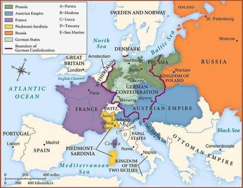 Boundaries Of Europe Set By The Congress Of Vienna In 1815 To