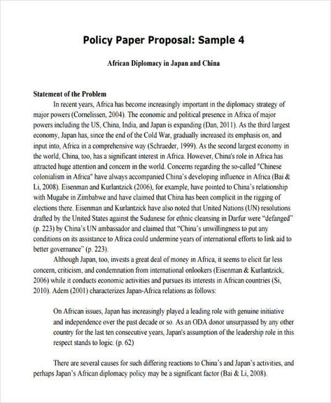 Image Result For Sample Policy Proposal Proposal Proposal