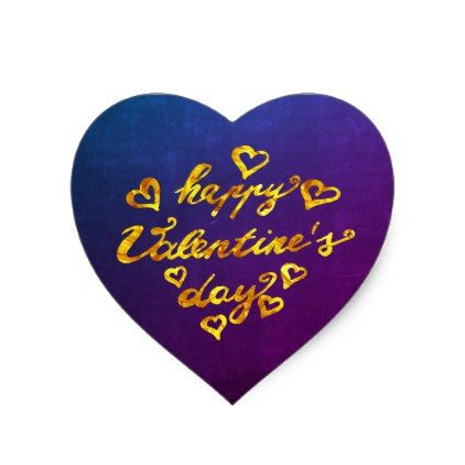 Happy Valentine 39 S Day Calligraphy Gold Heart Heart Sticker Valentines Day Gifts Happy Valentines Day Calligraphy Happy Valentines Day Happy Valentine
