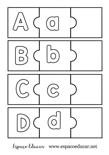 Jogo Educativo Para Alfabetizacao Quebra Cabecas Do Alfabeto Para Ilustrar Recortar E Brincar Espaco Educar Jogos Educativos Alfabetizacao Jogo Alfabeto