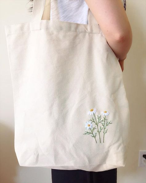 Hand Embroidery PDF Pattern. DAISY hand Embroidery pattern, Digital download, Floral, Modern embroidery