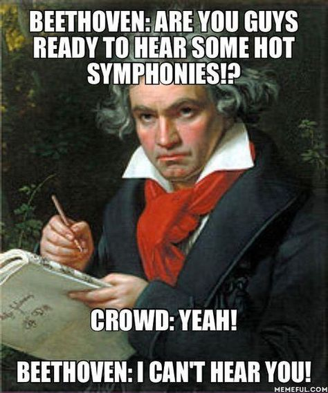 """Funny memes that """"GET IT"""" and want you to too. Get the latest funniest memes and keep up what is going on in the meme-o-sphere. Beethoven Music, Music Jokes, Funny Music, Band Jokes, Funny Quotes, Funny Memes, Funniest Memes, Ludwig, History Memes"""