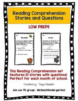Reading Comprehension Stories and Questions | Teaching Reading