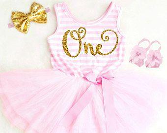 Verwonderend Eerste verjaardag jurk Baby Girl eerste verjaardag Outfit meisje CS-28