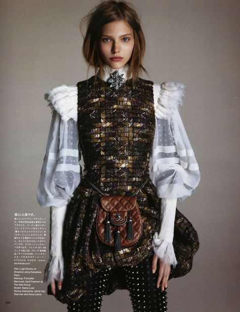 The Way Of The Warrior// Sasha Luss by Luigi + Daniele & Iango for Vogue Japan October 2013