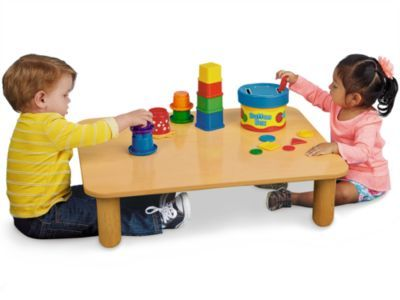 Little Ones Always Have Access To Hands On Activities With A Convenient Floor Table That S Just Their Height Children Simply Sit Or Kneel At Our Sturdy Birch T