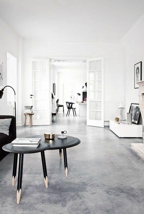 Decouvrir Le Sol En Beton Cire Dans Beaucoup De Photos Avec Images Deco Moderne Salon Maison Etage Beton Cire Sol