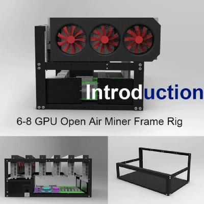 Steel Coin Open Air Miner Mining Frame Rig Case