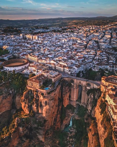"""VOYAGED by 9GAG on Instagram: """"Ronda, a majestic Spanish city perched on a cliff — 📌 #ronda #spain #Andalucia — 📷 @world_walkerz — #voyaged #travel #adventure"""""""