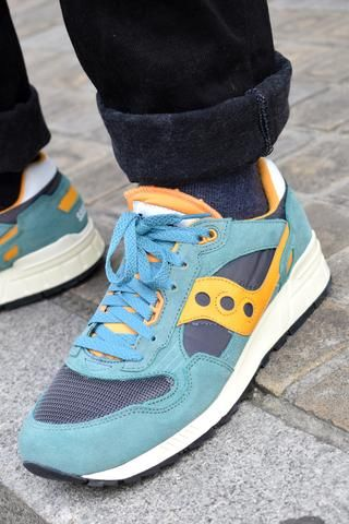 huge discount 432e6 6821a Saucony Shadow 5000 Vintage Teal, Blue & Orange Trainers ...