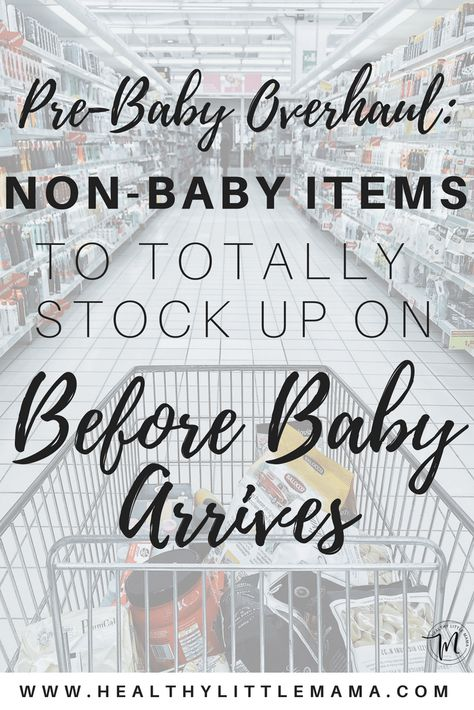STOCKPILE BEFORE BABY Getting ready for baby's arrival? Here is a list of the not-so-obvious items you need to have on hand when you come home from the hospital. Avoid leaving the house with your new baby and stock up ahead of time! Mama Baby, Baby Tritte, Baby Sleep, Baby Newborn, Baby Flu, Newborn Care, Getting Ready For Baby, Preparing For Baby, Baby Must Haves