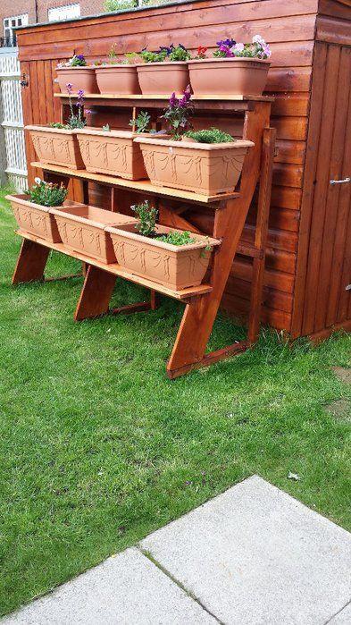 Jardinera Escalonada De Madera Ideas Perfectas Jardineras De Madera Diseño De Jardineras Jardineras