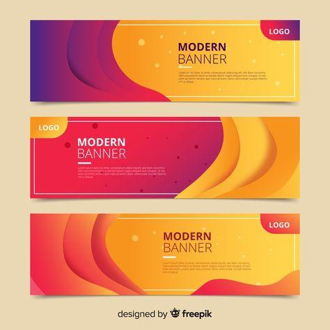 Descarga gratis vectores de Banners de formas onduladas abstractas