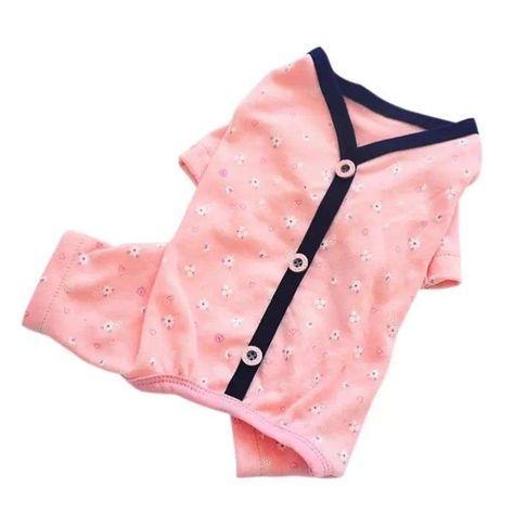 Fitwarm Pink Lace Dog Pajamas 100/% Cotton Pet Clothes Jumpsuit Casual Shirt Girl