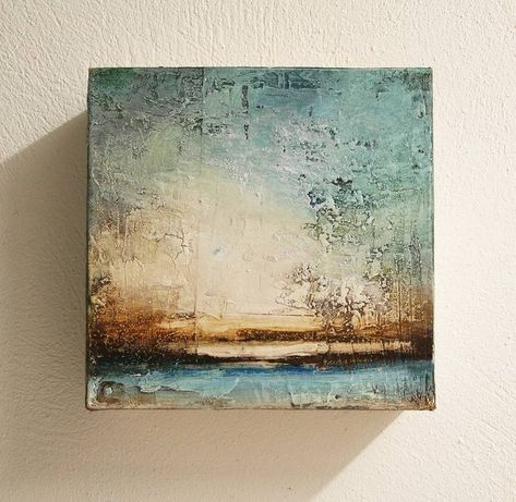 Saatchi Art is pleased to present the sculpture, 'evening,' by Jolina Anthony, available for the price of $620 USD. Original Sculpture: Wood on Canvas. Size is 8 H x 8 W x 3.5 in.
