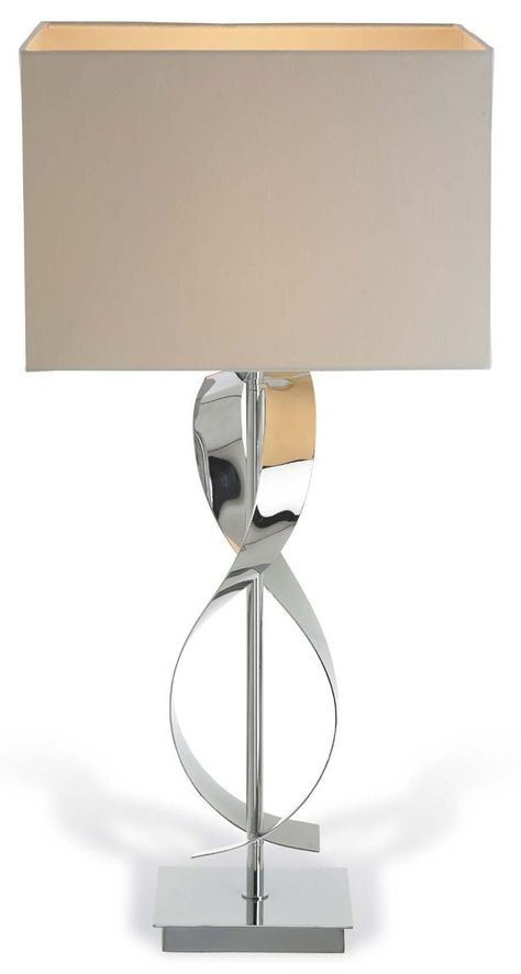 Bali Twist Chrome and Nickel Table Lamp | Table lamp
