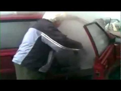 Old man washes inside of car-Why??   Funny Vehicle Videos