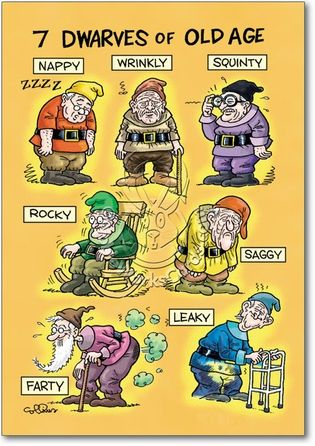 Aging Humor | Old-Age Dwarfs Humor Greeting Card