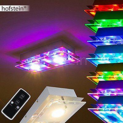 Deckenleuchte mit farbigen Deko LED`s und Fernbedienung
