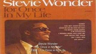 Stevie Wonder - For Once In My Life, via YouTube.