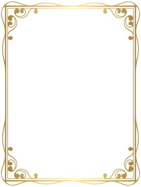 Border Frame Decorative PNG Clip Art Image