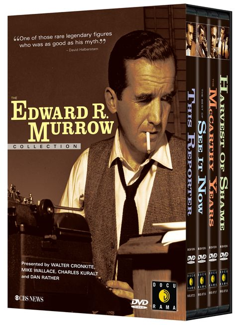 """An exploration of """"the life and groundbreaking work of Edward R. Murrow, America's most esteemed broadcast journalist."""