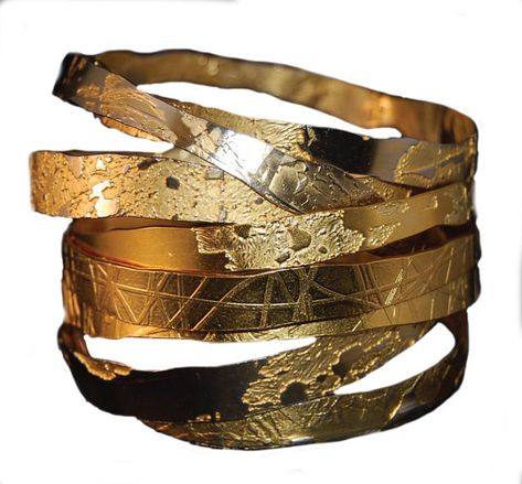 Hand Etched Gold Plated Brass Bangle- 1 single bangle - Free Shipping on 3 or more bangles - 2-3 wee