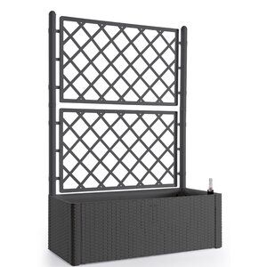 Rolled Bamboo Fencing In 2020 Planter Box With Trellis Plastic Planter Boxes Vinyl Lattice Panels