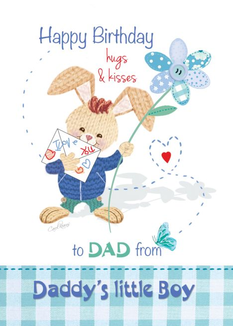 Birthday Dad Son Cute Bunny With Tall Flower Card Ad Ad Son Cute Birthday Dad Cute Bunny Flower Cards Birthday Hug