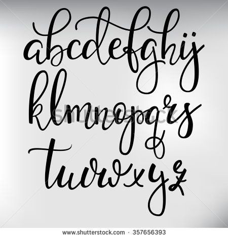 Handwritten brush style modern calligraphy cursive font with ...
