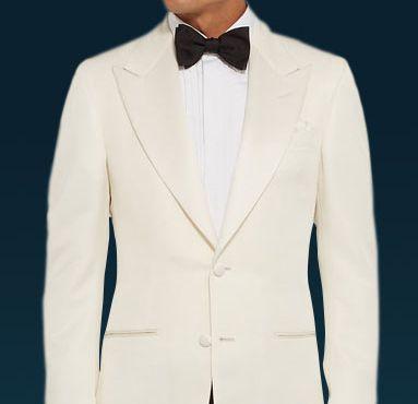 Mens White Tuxedo Jacket Wedding Bond 007 Spy Butler Prom Halloween Costume 42XL
