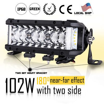 12 5d Cree Led Work Light Bar Spot Flood Combo Driving Fog Off Road 4wd Atv 12v Led Work Light Cree Bar Lighting