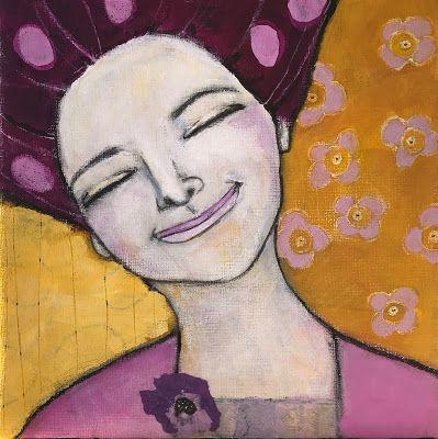 Monica Blom Art: En förnöjsam dam | Konst