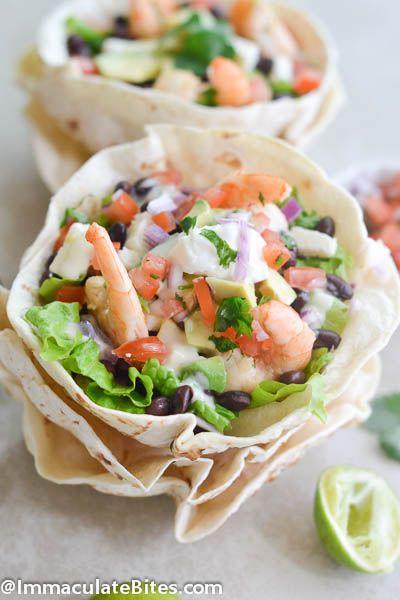 Easy Tostado Bowl Salad by africanbites #Salad #Tostado #Shrimp
