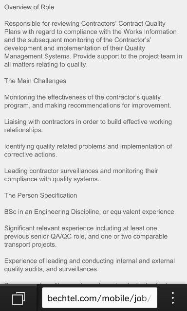 Job Description  Quality Engineer    Job Description